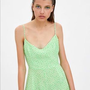 Zara Pants - NWT's Zara Green  Short Jumpsuit Romper Sz Medium